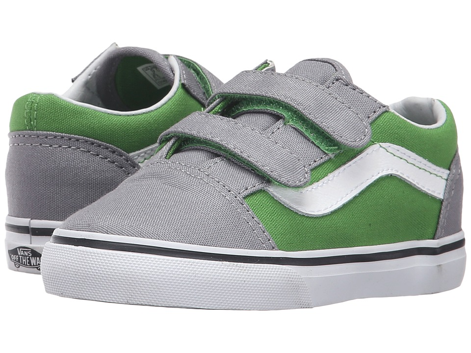 Vans Kids - Old Skool V (Toddler) ((Pop) Online Lime/Frost Gray) Boys Shoes