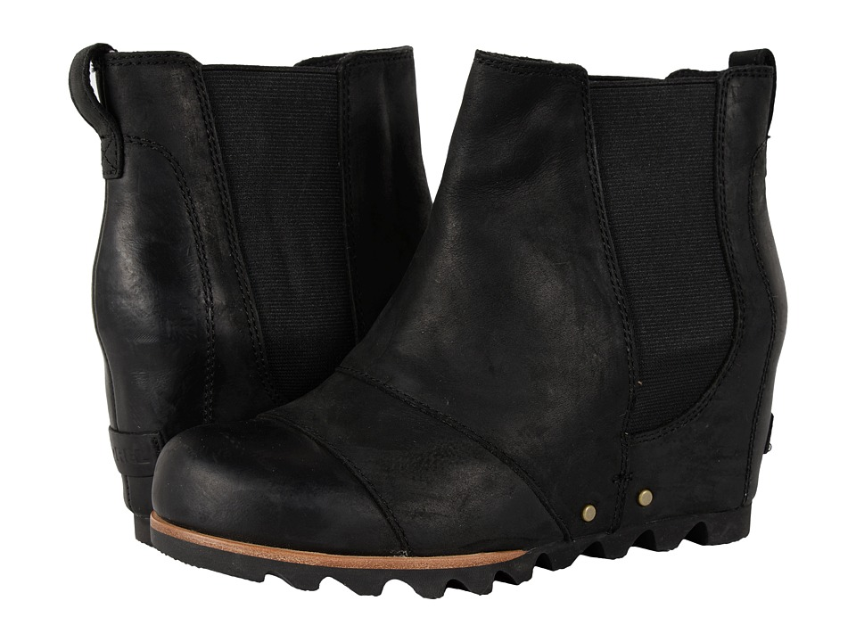 SOREL - Lea Wedge (Black) Women's Waterproof Boots
