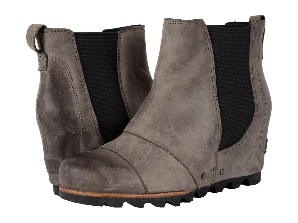 SOREL - Lea Wedge (Dark Grey) Women's Waterproof Boots