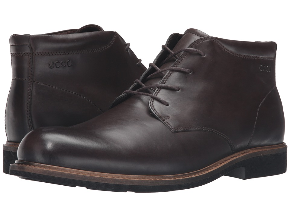 ECCO - Findlay Plain Toe Boot (Coffee) Men