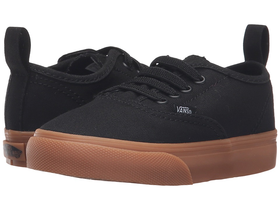 Vans Kids - Authentic V Lace (Toddler) ((Gum) Black) Boys Shoes
