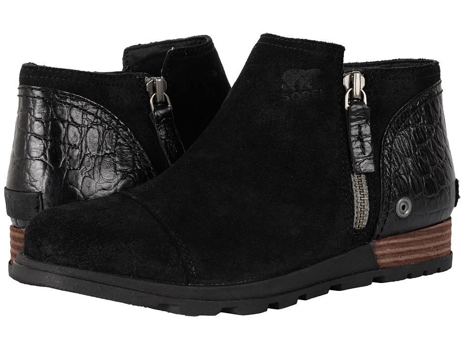 SOREL - Major Low (Black) Women's Zip Boots