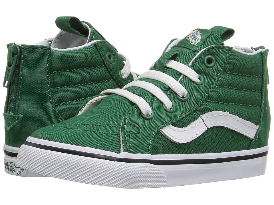 Vans Kids - Sk8-Hi Zip (Toddler) ((Varsity) Green/True White) Boys Shoes