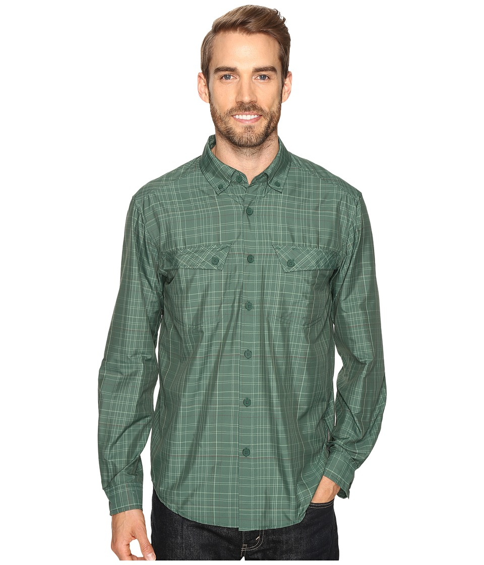 ExOfficio - Minimo Long Sleeve Shirt (Hemlock Plaid) Men's Long Sleeve Button Up
