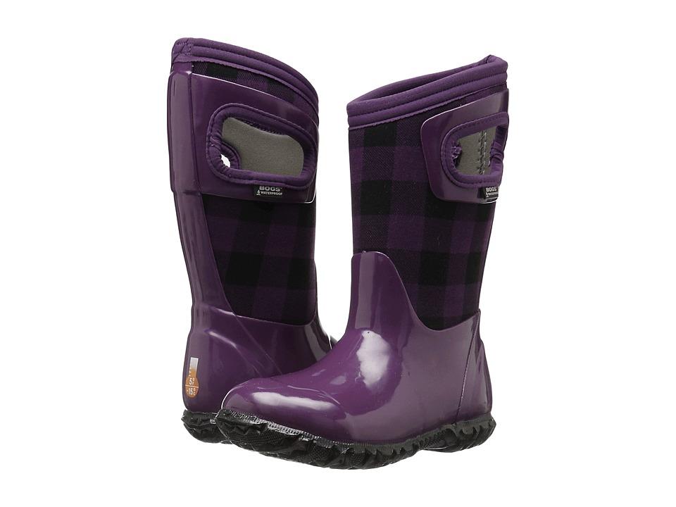 Bogs Kids - North Hampton Buffalo Plaid (Toddler/Little Kid/Big Kid) (Purple Multi) Girls Shoes