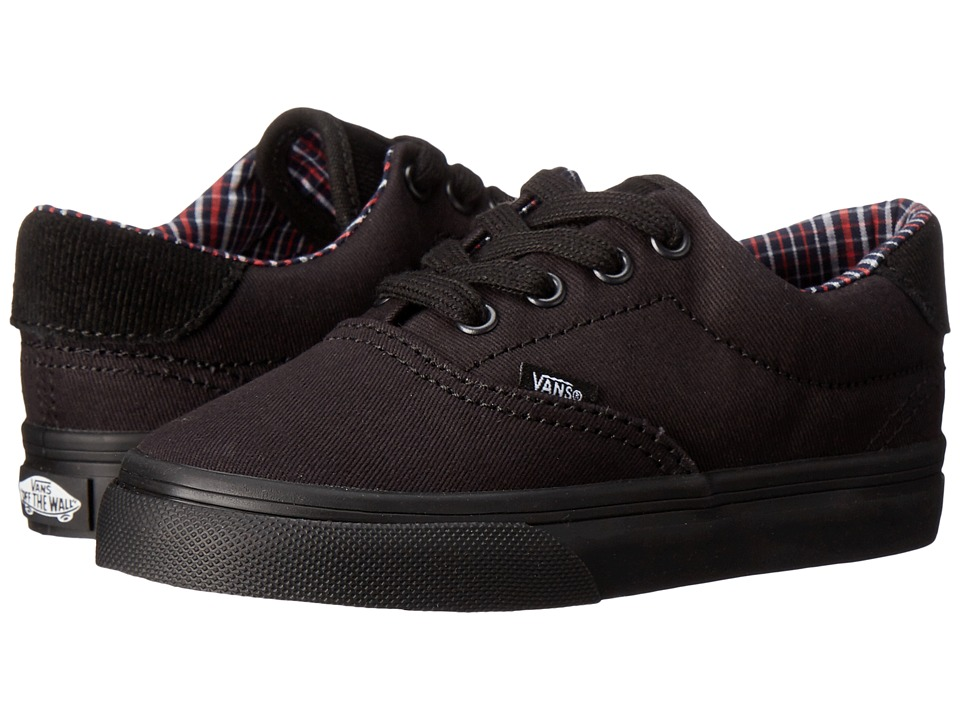 Vans Kids - Era 59 (Toddler) ((Cord & Plaid) Black/Black) Boy's Shoes