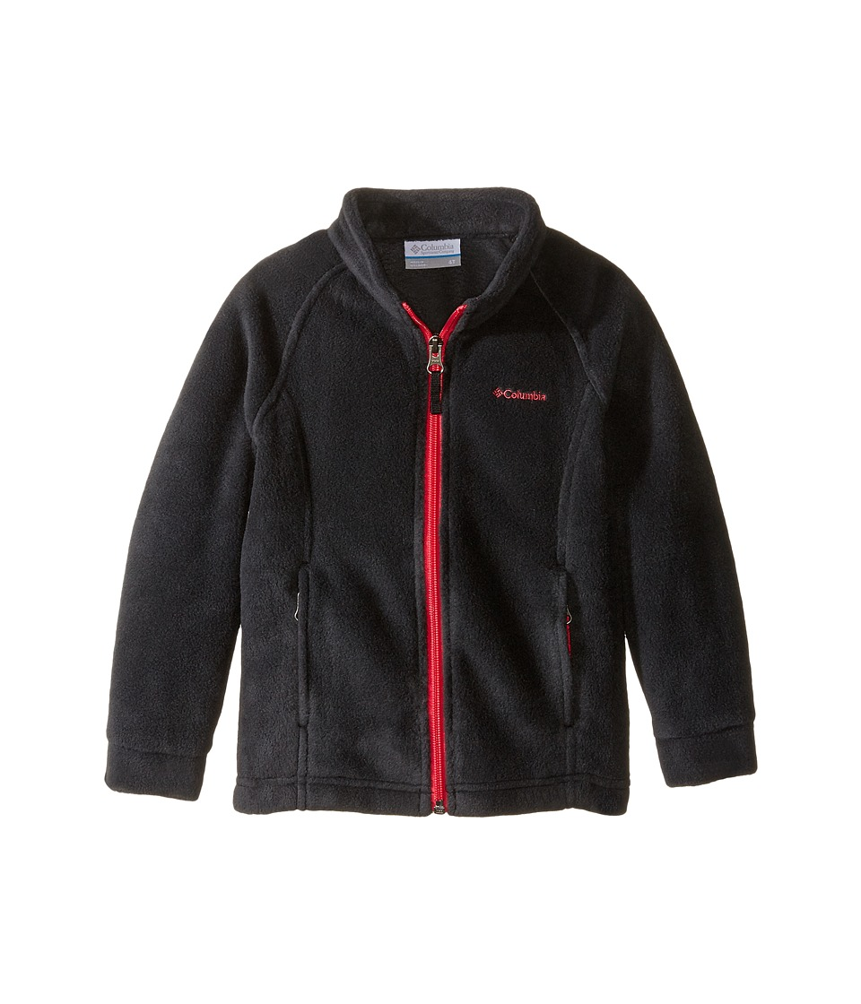 Columbia Kids - Benton Springs Fleece (Toddler) (Black/Punch Pink Zipper) Girl's Fleece