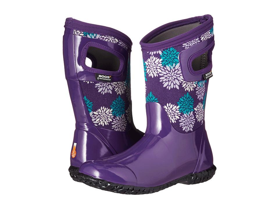 Bogs Kids - North Hampton Pompons (Toddler/Little Kid/Big Kid) (Grape Multi) Girls Shoes
