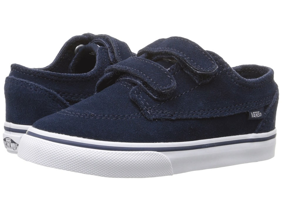 Vans Kids - Brigata V (Toddler) ((Suede) Dress Blues/True White) Boys Shoes