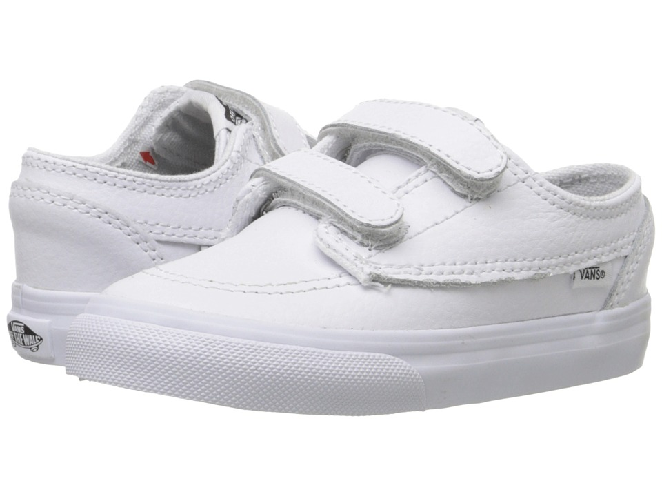 Vans Kids - Brigata V (Toddler) ((Leather) White/True White) Boys Shoes