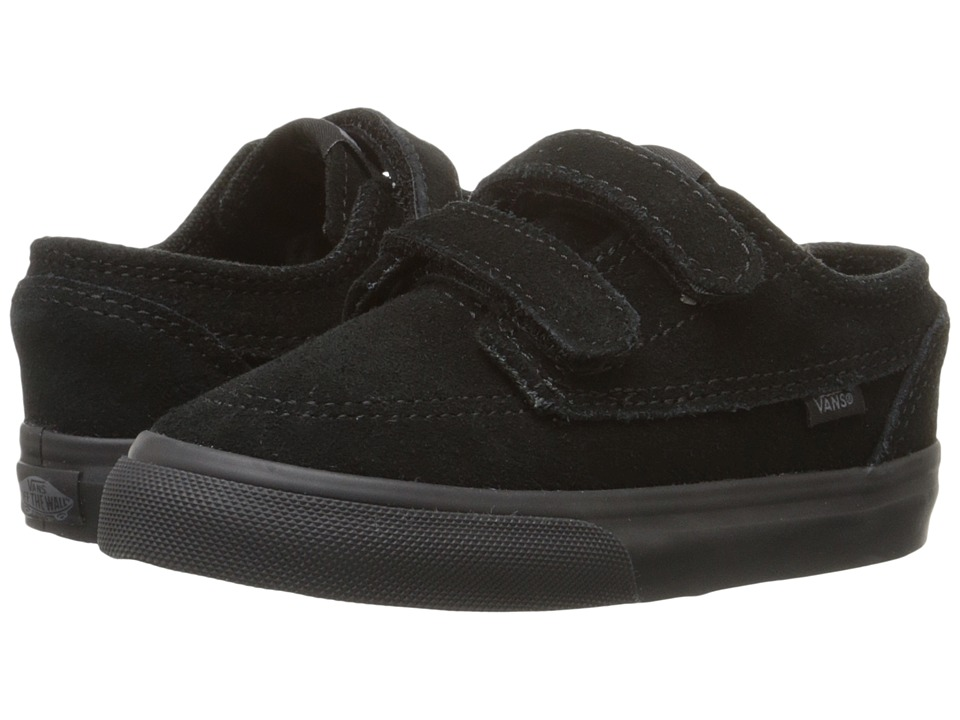 Vans Kids - Brigata V (Toddler) ((Suede) Black/Black) Boys Shoes
