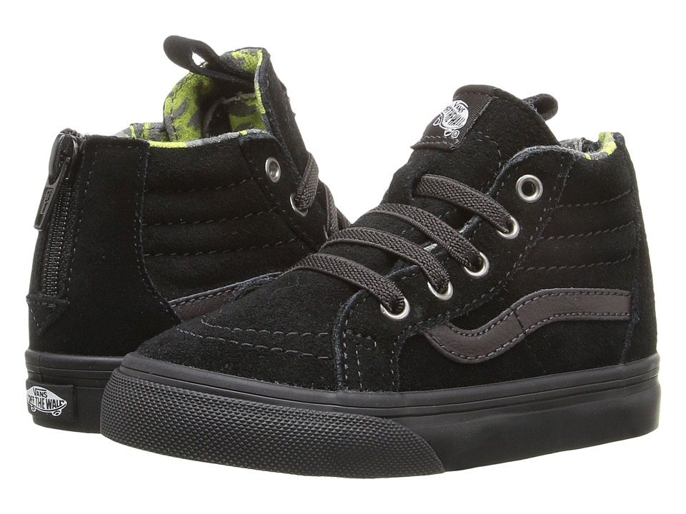 Vans Kids - Sk8-Hi Zip (Toddler) ((MTE) Black/Lime Punch) Boys Shoes