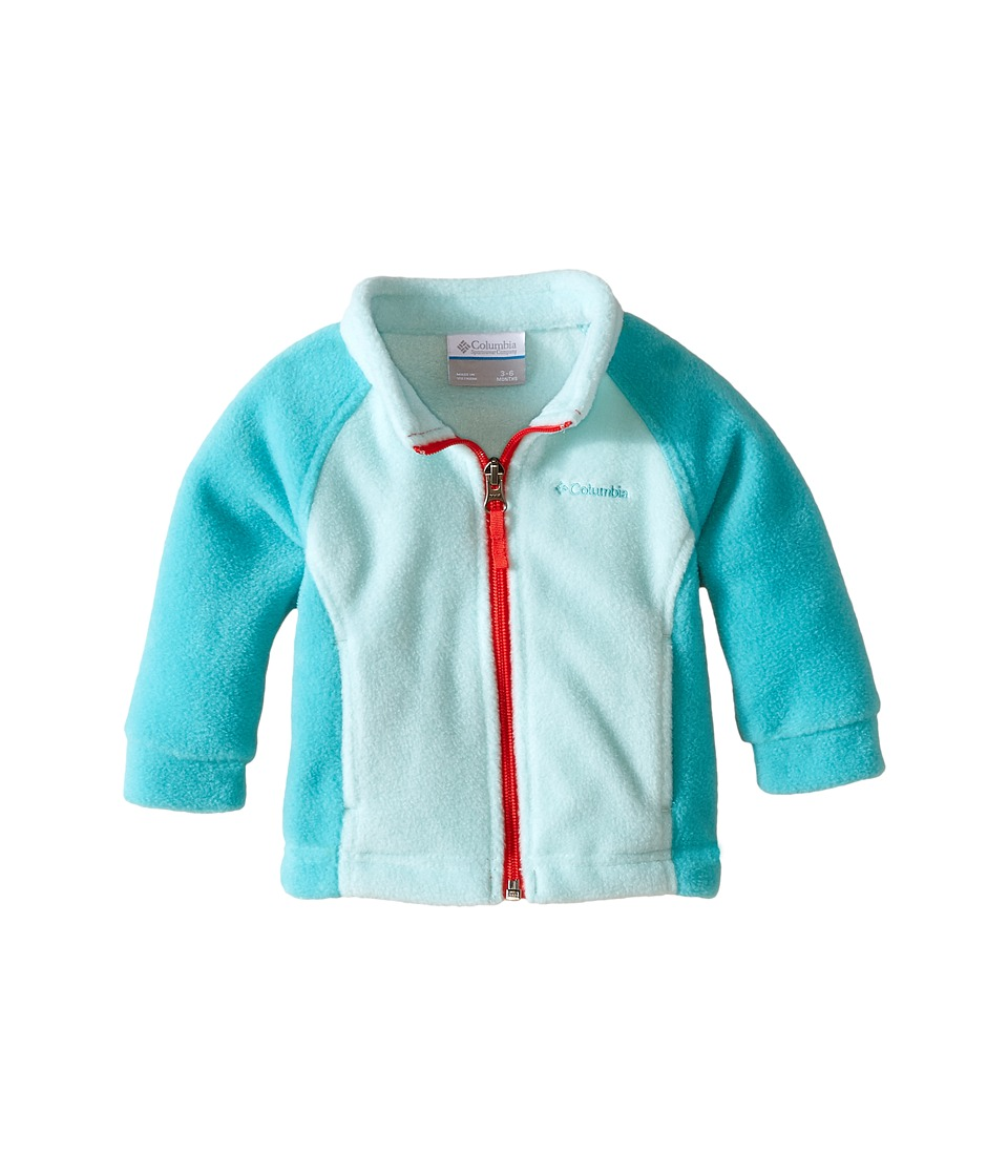 Columbia Kids - Benton Springs Fleece (Infant) (Spray/Miami/Red Camellia Zipper) Girl's Fleece