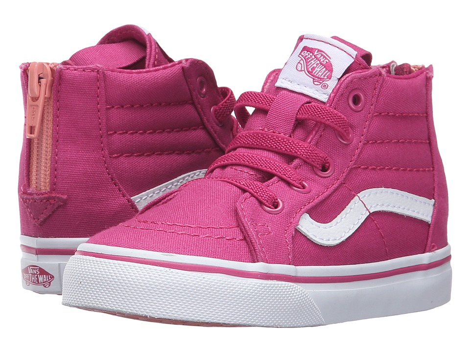 Vans Kids - Sk8-Hi Zip (Toddler) ((Canvas) Lilac Rose/Burnt Coral) Girls Shoes