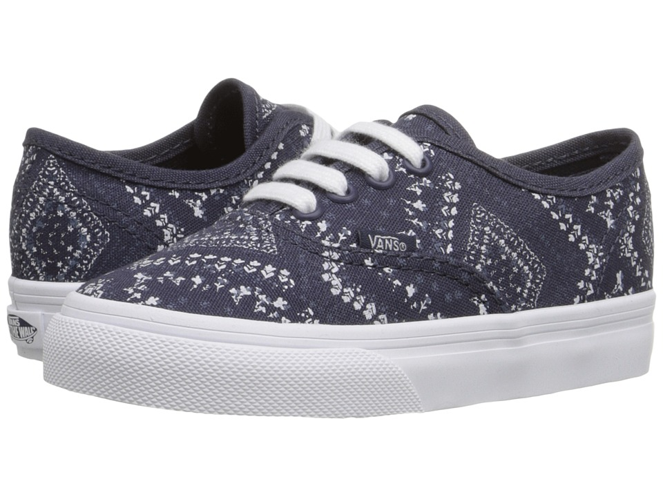 Vans Kids - Authentic (Toddler) ((Ditsy Bandana) Parisian Night) Girls Shoes