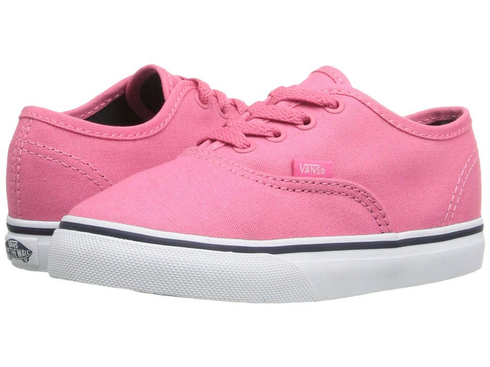 Vans Kids - Authentic (Toddler) (Camellia Rose/Parisian Night) Girls Shoes