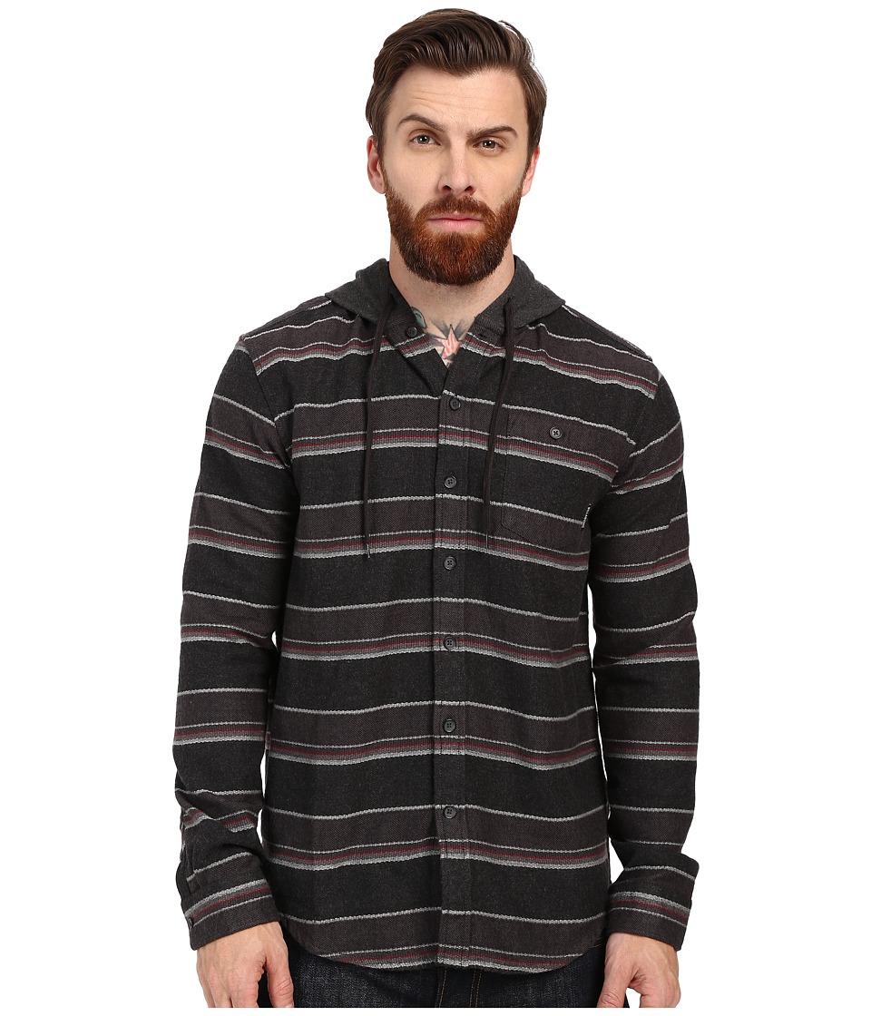 Billabong - Highlands Long Sleeve Flannel Shirt (Black Heather) Men's Long Sleeve Button Up