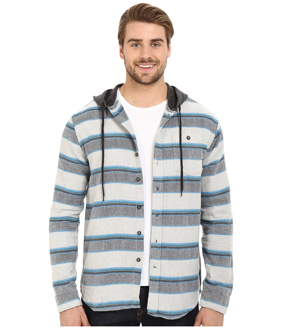 Billabong - Highlands Long Sleeve Flannel Shirt (Grey Heather) Men's Long Sleeve Button Up