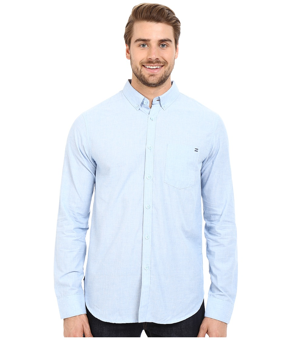 Billabong - All Day Long Sleeve Woven Shirt (Light Blue) Men's Long Sleeve Pullover