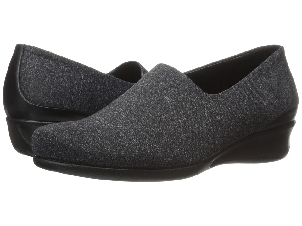 ECCO - Abelone Stretch Slip-On (Black/White/Black) Women's Slip on Shoes