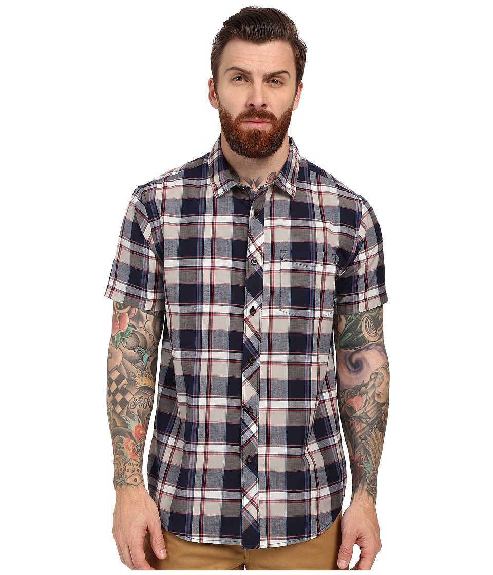 Billabong - Bridges Short Sleeve Woven (Indigo) Men's Short Sleeve Button Up