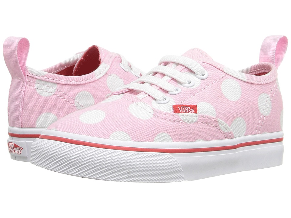 Vans Kids - Authentic V Lace (Toddler) ((Polka Dot) Pink Mist/Fiery Red) Girls Shoes