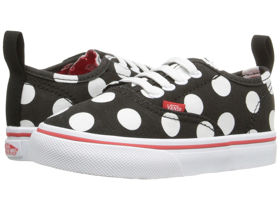 Vans Kids - Authentic V Lace (Toddler) ((Polka Dot) Black/Fiery Red) Girls Shoes