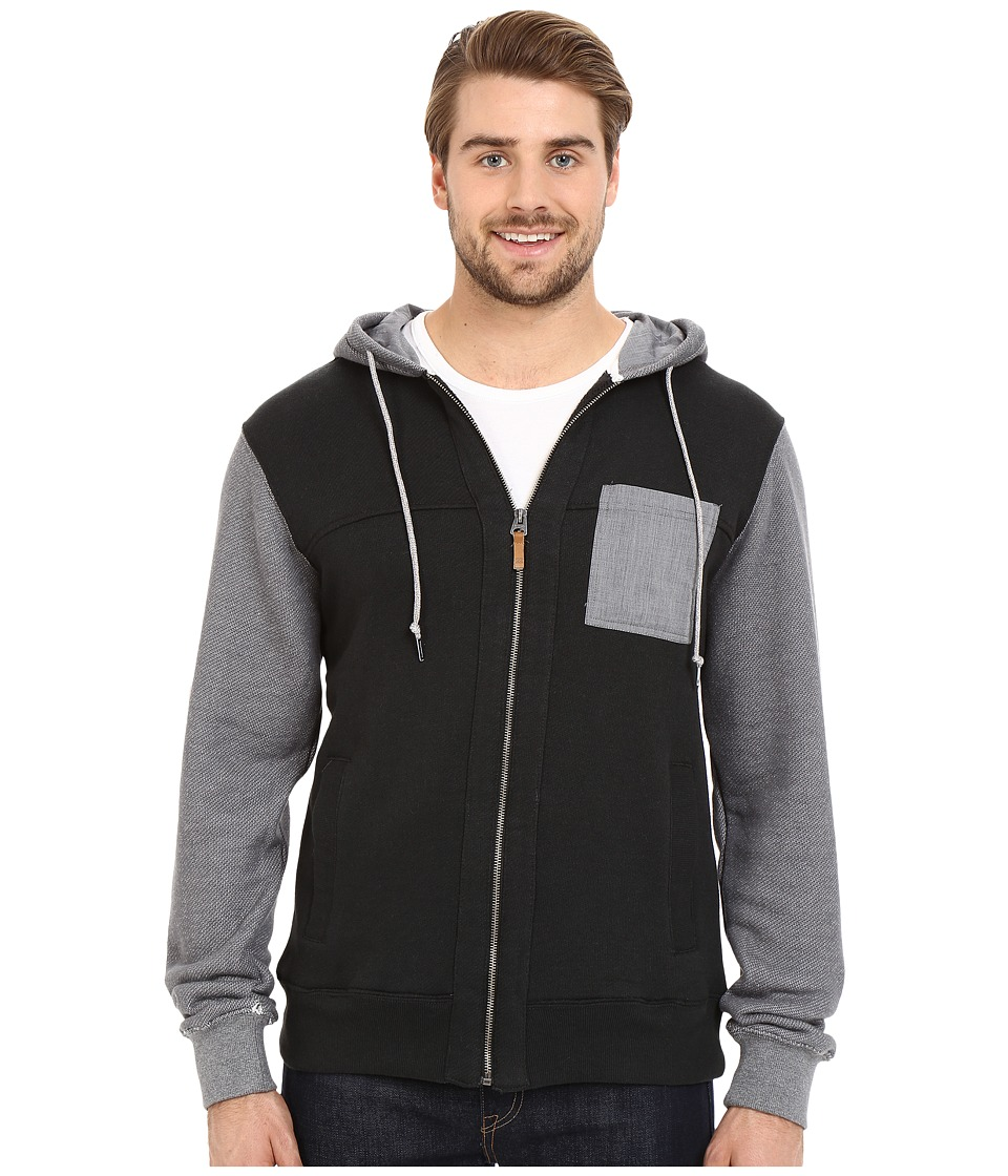 Billabong - Hudson Zip Hoodie (Black) Men's Sweatshirt
