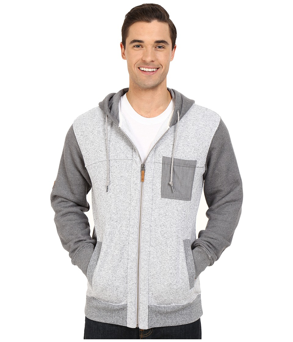 Billabong - Hudson Zip Hoodie (Light Grey Heather) Men's Sweatshirt