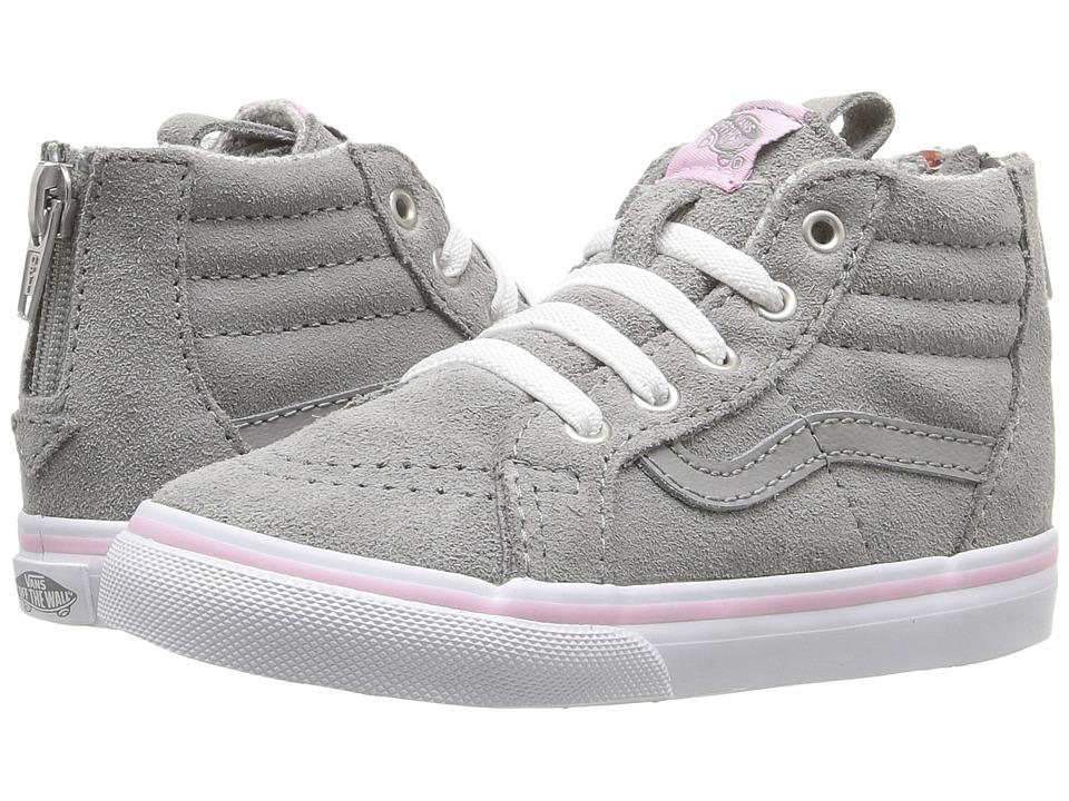 Vans Kids - Sk8-Hi Zip (Toddler) ((MTE) Wild Dove/True White) Girls Shoes