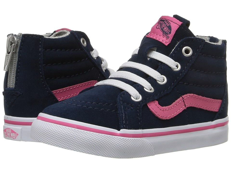 Vans Kids - Sk8-Hi Zip (Toddler) ((MTE) Navy/Pink) Girls Shoes