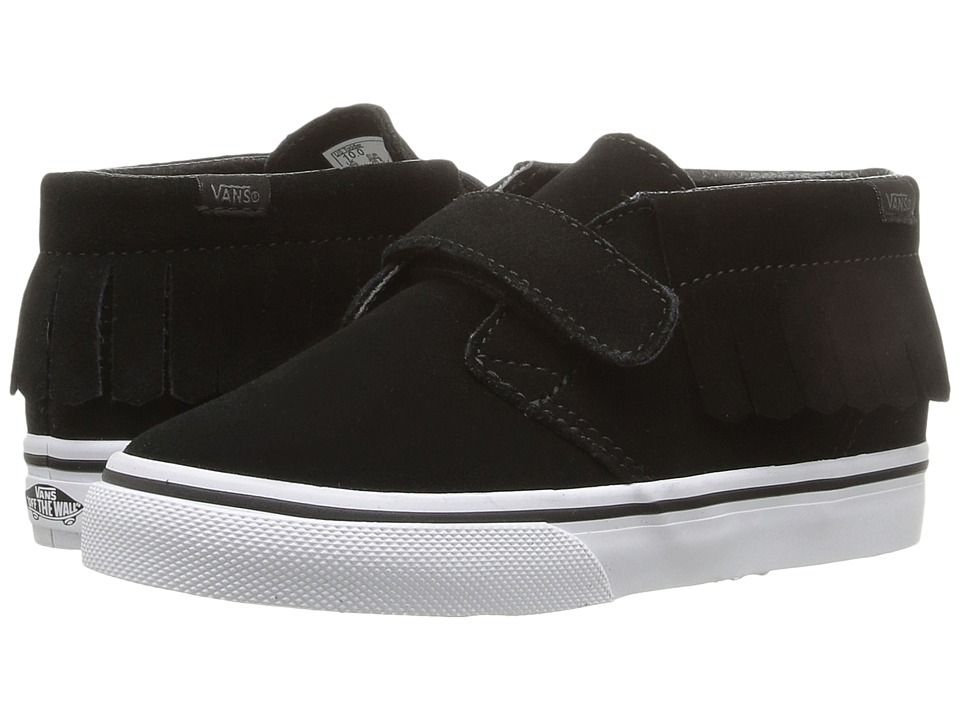 Vans Kids - Chukka V Moc (Toddler) ((Suede) Black/White) Girls Shoes