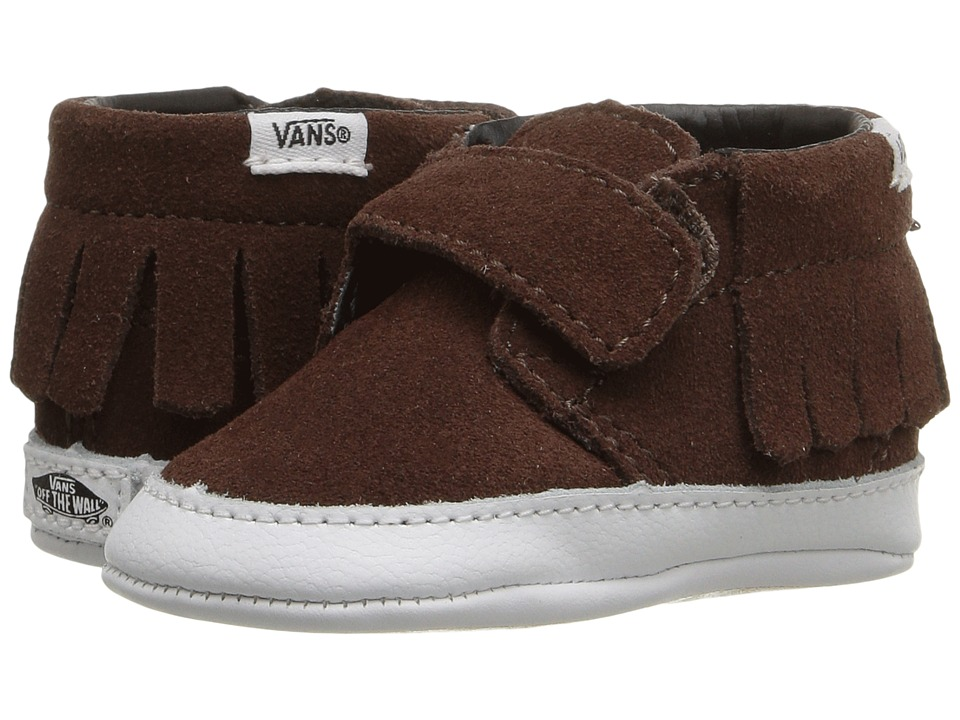 Vans Kids - Chukka V Moc Crib (Infant/Toddler) ((Suede) Chestnut) Girls Shoes