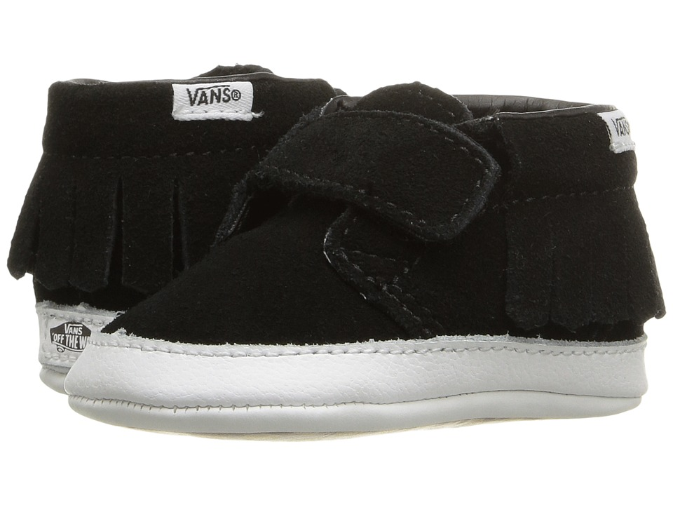 Vans Kids - Chukka V Moc Crib (Infant/Toddler) ((Suede) Black/True White) Girls Shoes