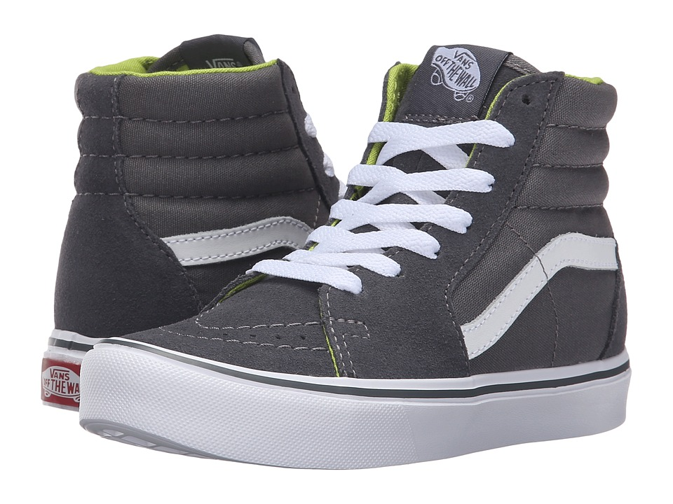 Vans Kids - Sk8-Hi Lite (Little Kid/Big Kid) ((Basic) Tornado/White) Boys Shoes