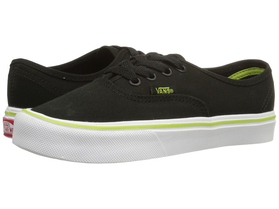 Vans Kids Authentic Lite (Little Kid/Big Kid) ((Basic) Black/White) Boys Shoes