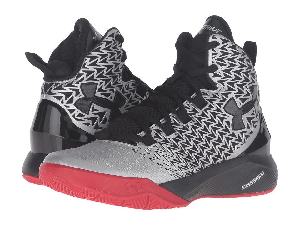 Under Armour Kids - UA BGS Clutchfit Drive 3 (Big Kid) (Metallic Silver/Red/Black) Boys Shoes