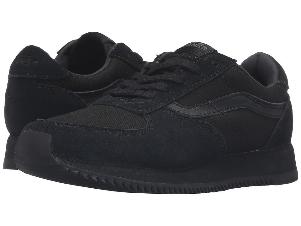 Vans Kids - Runner (Little Kid/Big Kid) ((OG) Black/Black) Kids Shoes