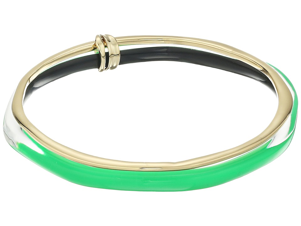 Alexis Bittar - Liquid Metal Paired Bangle (Opaque Lime Clear) Bracelet