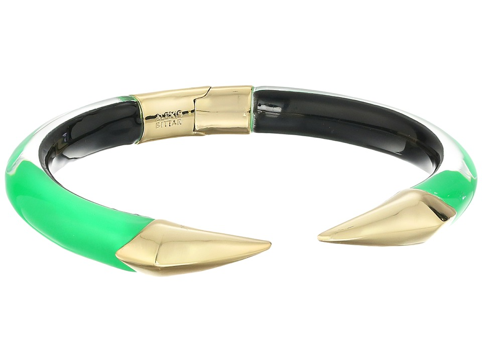 Alexis Bittar - Mirrored Pyramid Brake Hinge Bracelet (Opaque Lime Clear) Bracelet