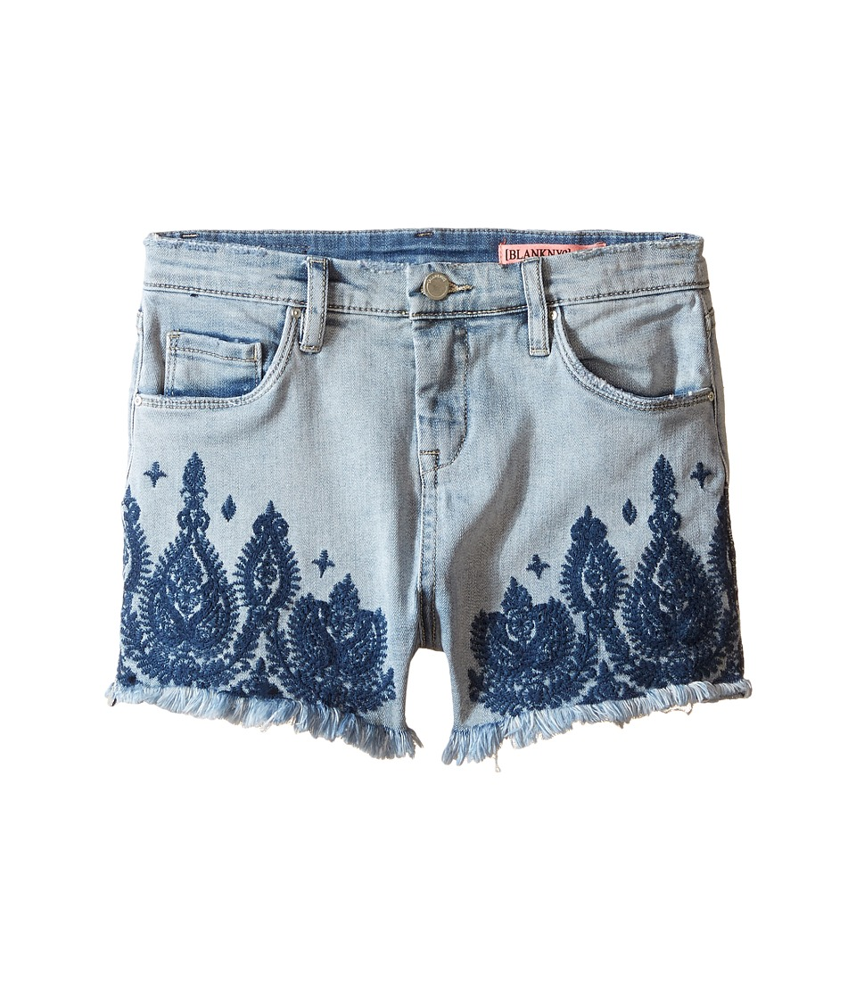 Blank NYC Kids - Embroidered Shorts in Home Sweet Home (Big Kids) (Home Sweet Home) Girl