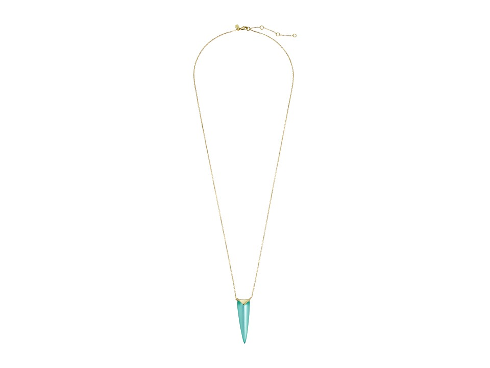 Alexis Bittar - Liquid Spear Pendant Necklace (Mint Green) Necklace