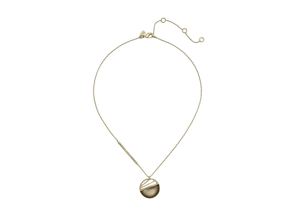 Alexis Bittar - Spoked Disk Pendant Necklace (Warm Grey) Necklace