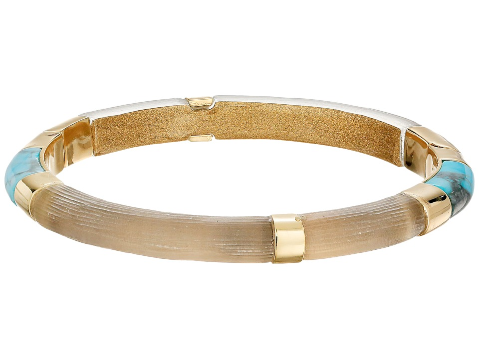 Alexis Bittar - Color Blocked Hinged Bangle (Warm Grey) Bracelet