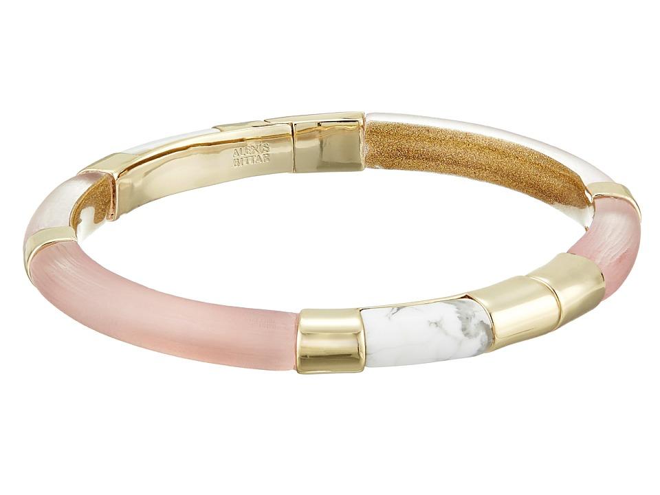 Alexis Bittar - Color Blocked Hinged Bangle (Sunset) Bracelet