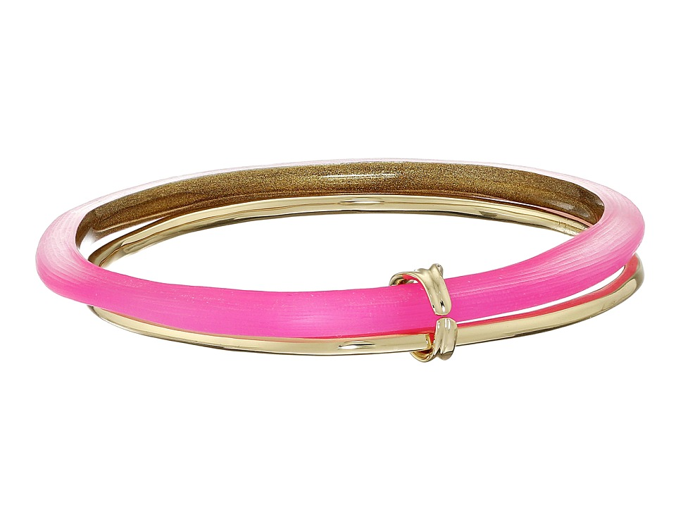 Alexis Bittar - Liquid Metal Paired Bangle Bracelet (Fluorescent Pink) Bracelet
