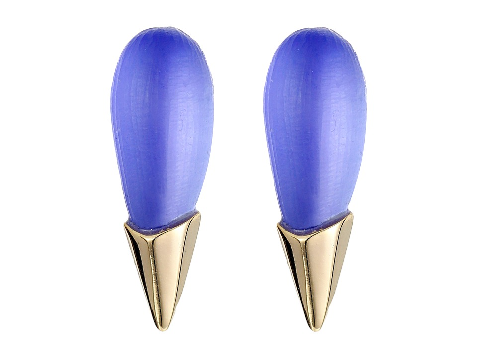 Alexis Bittar - Liquid Metal Capped Spike Post Earrings (Periwinkle) Earring