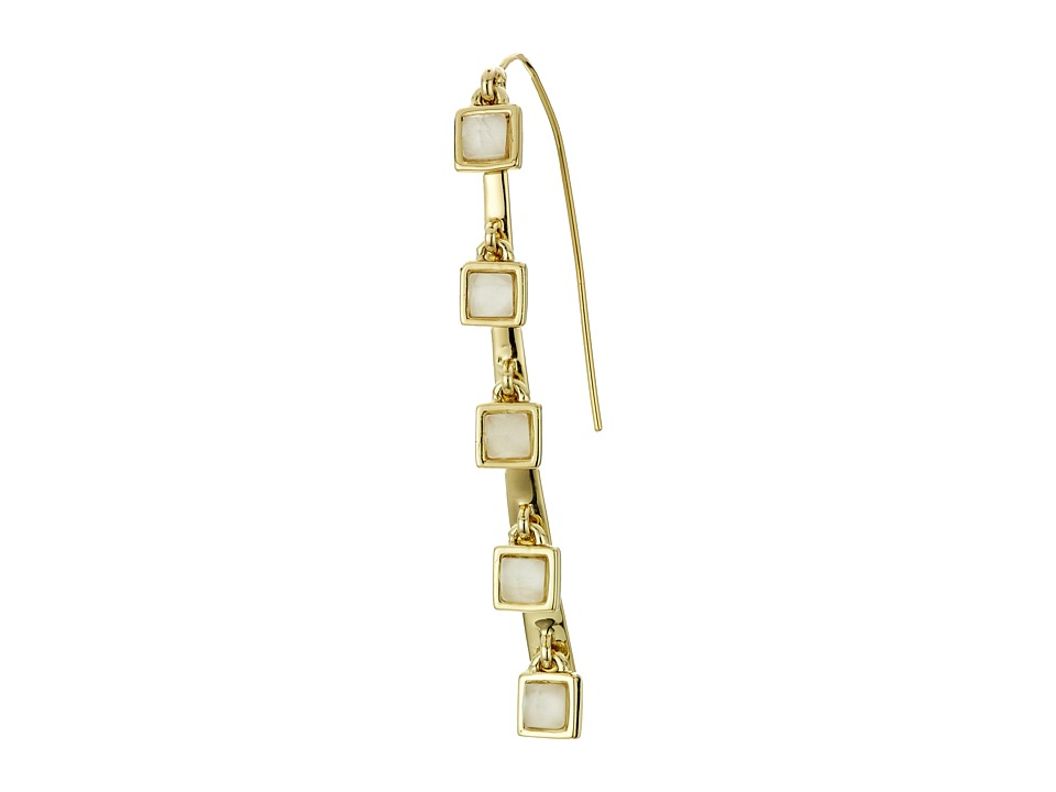 Alexis Bittar - Five Stone Geometric Square Fringe Infinity Wire Earrings (10K Gold) Earring