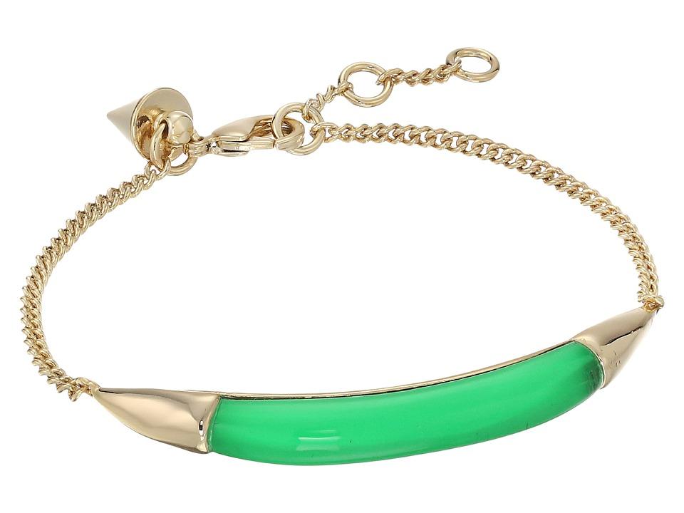 Alexis Bittar - ID Curb Chain Bracelet (Opaque Lime Clear) Bracelet