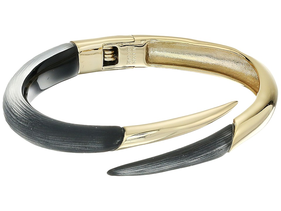 Alexis Bittar - Spiked Split Hinge Bracelet (Black) Bracelet